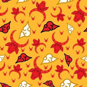 Ox zodiac Chinese New Year Pattern Wizzitex