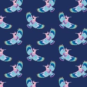 Hoopoe Bird Delft Blue