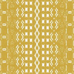 Mud cloth 8 Mustard (medium scale)