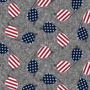 flag sunglasses - navy on dark grey - LAD21