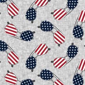 flag sunglasses - light grey - LAD21