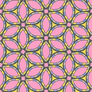 Blossom Mosaic // Bright Pastels on Gray
