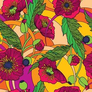 "Flower Power Poppies - 8"""