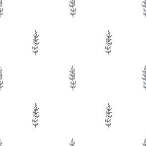 Blue white simple algae pattern
