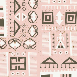 Kilim Love Pink (large scale)
