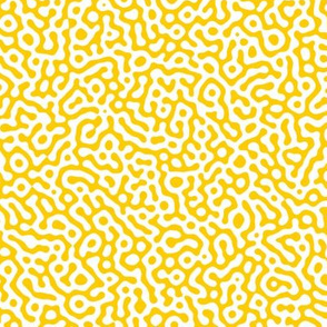 squiggle Turing pattern #7 - yellow and white