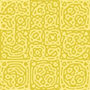 checkered mudcloth Turing pattern 4 - yellows