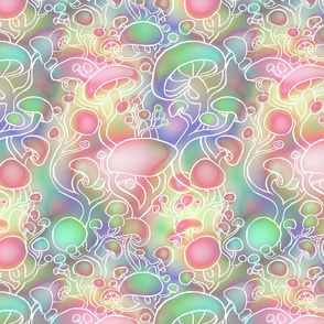 Dreamy Pastel Shrooms (Largescale)