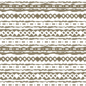 Winter brown abstract zigzag dotted pattern
