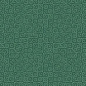 tiny checkered mudcloth texture 4 - cactus greens