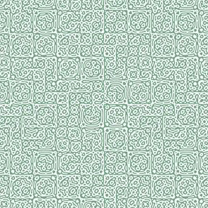 tiny checkered mudcloth texture 4 - light green and white
