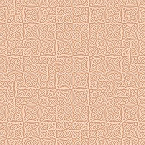 tiny checkered mudcloth texture 4 -  terracotta and pink