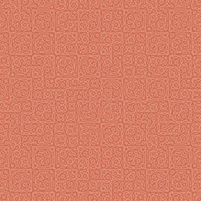 tiny checkered mudcloth texture 4 - coral and terracotta