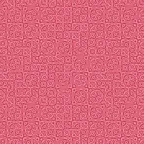 tiny checkered mudcloth texture 4 - red and pink