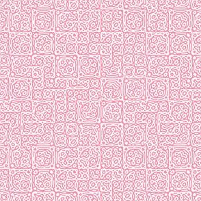 tiny checkered mudcloth texture 4 - pink and white