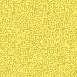 tiny checkered mudcloth texture 4 - yellow