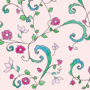 Climbing Vine Blush Pink