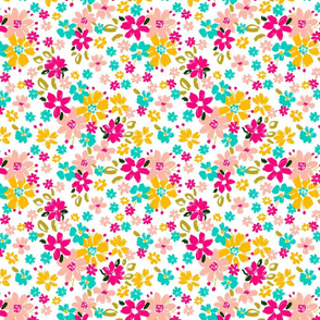 3A girly playful artistic ditsy florals cottage farmhouse cheerful terriconraddesigns