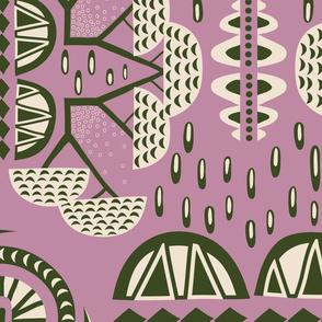 Landscape of Africa purple