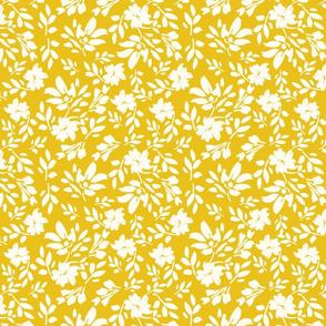 3E yellow modern fauna painterly playful bright youthful cottage farmhouse TerriConradDesigns