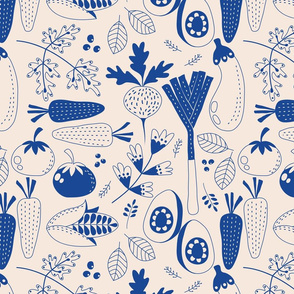 Veggie Medley blue