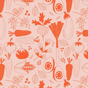 Veggie Medley orange and pink
