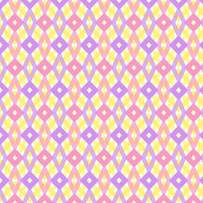 Diamond purple yellow pink