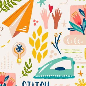 Send Joy //  Jumbo Wallpaper // © ZirkusDesign // Sewing, Crafting, Wallpaper, Quilting, Decorating, Interiors, Mail, Letters, Flowers, Painting, Ideas, Dream, Create, Sew, Bird, Floral