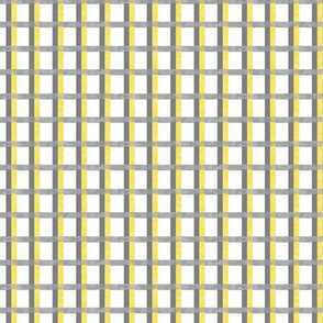 Yellow Gray Marbled Check Grid