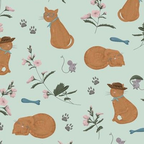 Cats and Catnip Flowers