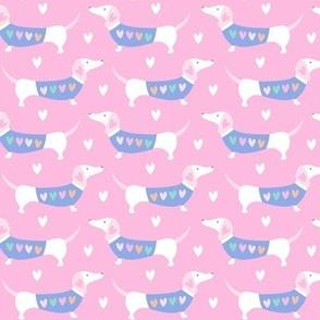 Dashing Dachshund - pink ( 8inch )