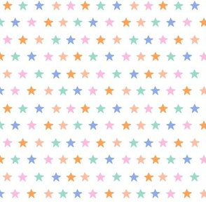 Colourful Stars- pastels