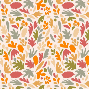 Retro Fall in Love - Earthy Matisse Foliage - S
