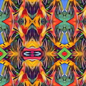 Heliconia faces 1