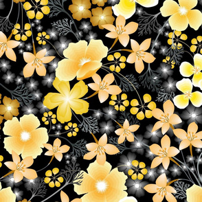 Yellow Thicket Floral