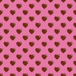 Valentine Hearts Chocolate & Pink