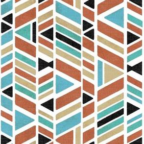 Kalta Minor block print - terracotta