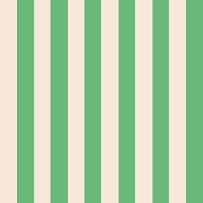 Vintage Stripe Cream & Green