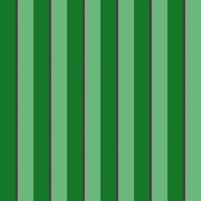 Vintage Stripe  Greens & Plum