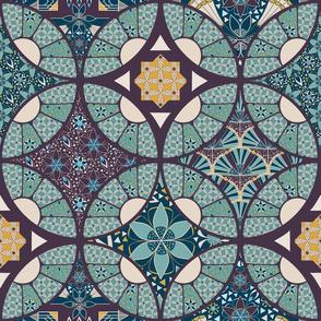 Mini Patchwork Quilt, Wholecloth