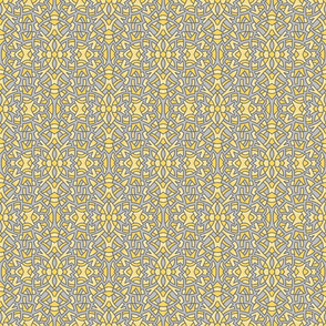Sketchy Medallion yellow grey 2021 6in