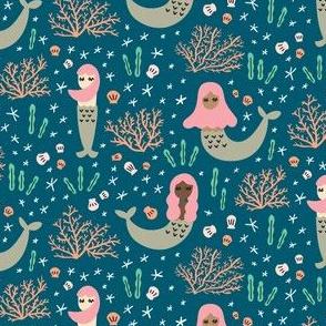 Little Mermaids - blue
