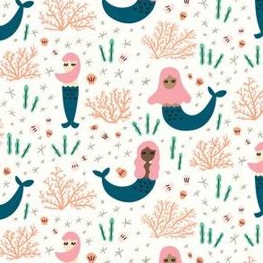 Little Mermaids - white