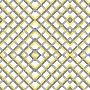 Gray and Yellow Diamonds Intertwined