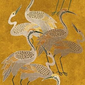 Deco Cranes - Golden Hour - Large Scale