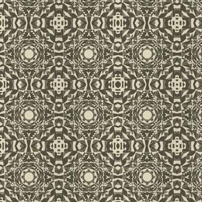 Geometric dark grey and cream