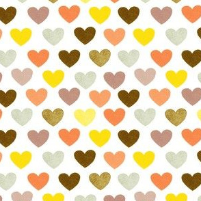 Small Scale Hearts yellow and orange