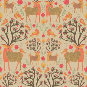 deer damask warm