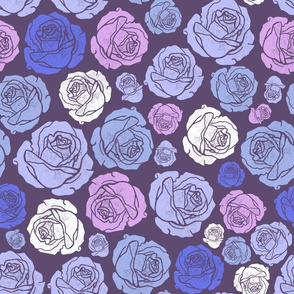 Valentine's Day Roses blue large