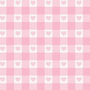 Pink Gingham Heart